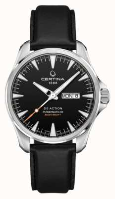 Certina | DS Action Day-Date Powermatic 80 | Black Leather Strap | C0324301605100