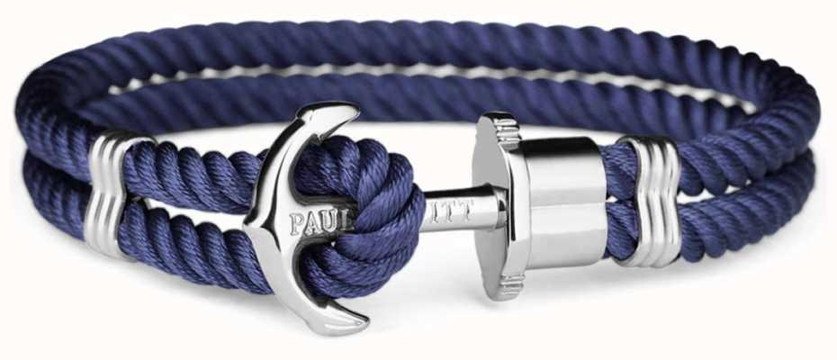 Paul Hewitt Silver Nylon Blue Anchor PH-PH-N-S-N-XXL