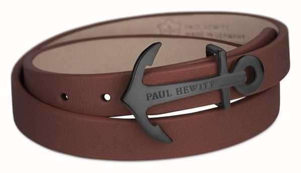 Paul Hewitt Black Anchor Brown Leather PH-WB-B-1M