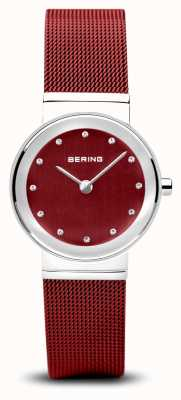 Bering Womens | Classic | Red PVD Steel Mesh Bracelet 10126-303