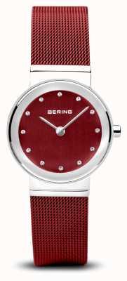 Bering Womens | Classic | Red PVD Steel Mesh Bracelet 10126-303