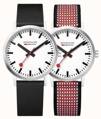 Mondaine Official Swiss Railways 75 Year Anniversary Special Set|30mm A658.30323.75SET