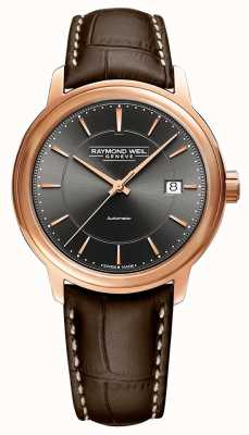 Raymond Weil | Men's Maestro | Brown Leather Strap | Grey Dial | 2237-PC5-60011