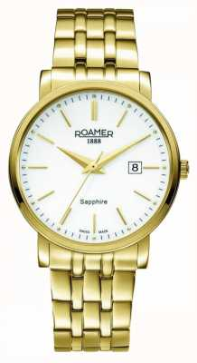 Roamer | Classic Line | Gold Plated Stainless Steel | White Dial | 709856-48-25-70
