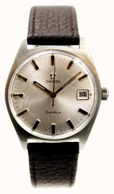 Omega Men's Geneve Date 1969 Brown Strap J55083