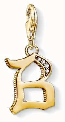Thomas Sabo Pendant 'Letter B' 18k YellowGold Plated 925 Sterling Silver 1608-414-39