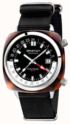 Briston Clubmaster GMT Limited Edition Auto Black Nato Strap 19842.SA.T.1.NB