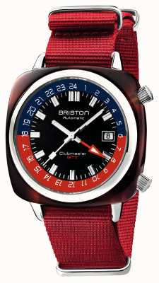 Briston Clubmaster GMT Limited Edition | Automatic | Red Nato Strap 19842.SA.T.P.NR