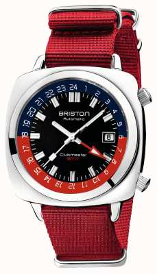 Briston Clubmaster GMT Limited Edition | Auto | Red Nato Strap 19842.PS.G.P.NR