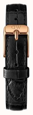 e7df290f5 Daniel Wellington Strap Only Black Classic Petite Reading 12mm Rose Gold  DW00200182