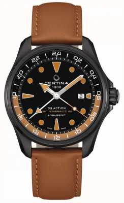 Certina | Mens DS Action Powermatic | Brown Leather Strap | C0324293605100