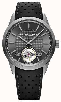 Raymond Weil Mens | Freelancer Automatic Grey Dial | Black Rubber Strap | 2780-TIR-60001