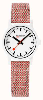 Mondaine Essence 32mm | White Dial | Cork Textile Strap MS1.32110.LP