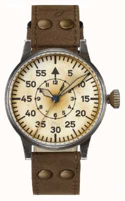 Laco | Wien Erbstück | Automatic Pilot B | Brown Leather Strap 861944