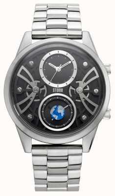 STORM | Globe-X Black | Stainless Steel Bracelet | Black Dial | 47441/BK