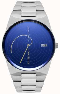 STORM | Fibon-X Lazer Blue | Stainless Steel Bracelet | Blue Dial 47444/LB