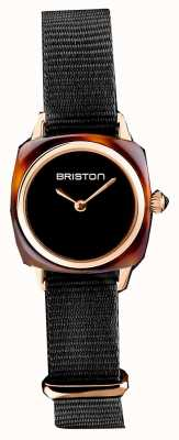 Briston | Clubmaster Lady | Single Black Nato Strap | Tortoise Shell 19924.PRA.T.1.NB- SINGLESTRAP