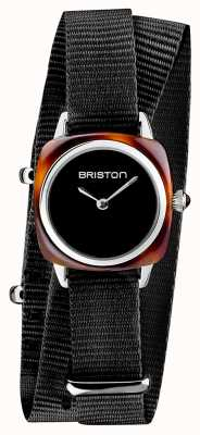 Briston | Clubmaster Lady | Single Black Nato | Tortoise Acetate | 19924.SA.T.1.NB