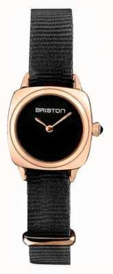 Briston | Clubmaster Lady | Single Black Nato | Rose Gold PVD Case | 19924.SPRG.M.1.NB - SINGLESTRAP
