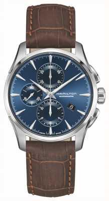 Hamilton | Jazzmaster Auto Chronograph | Blue Dial | Brown Leather | H32586541