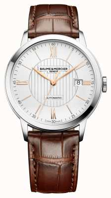 Baume & Mercier | Mens Classima | Automatic | Brown Leather | Silver Dial | M0A10263