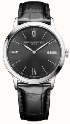 Baume & Mercier | Mens Classima | Black Leather | Slate Grey Dial | M0A10416