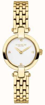 Coach | Womens | Chrystie | Gold PVD Bracelet | White Dial | 14503391