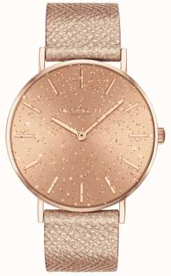 Coach | Womens | Perry | Metallic Strap | RoseGold Glitter Dial | 14503322