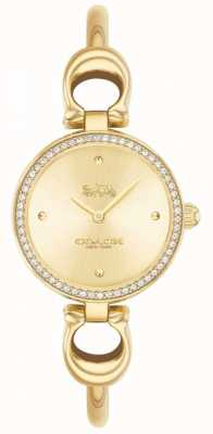 Coach | Womens | Park | Gold PVD Bangle | Gold Dial | 14503446
