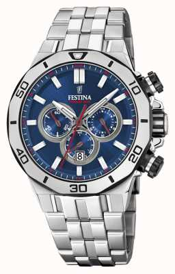 Festina Chrono Bike 2019 | Stainless Steel Bracelet | Blue Dial F20448/3