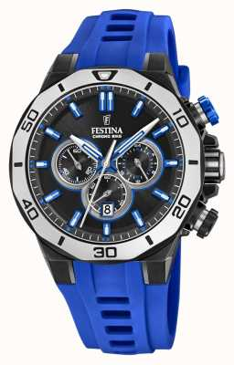 Festina Chrono Bike 2019 | Blue Rubber Strap | Black Dial F20450/5