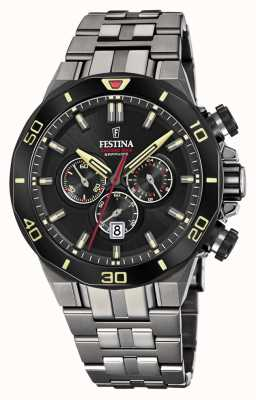 Festina Limited Edition Chrono Bike 2019 | Gun Metal IP Bracelet F20453/1