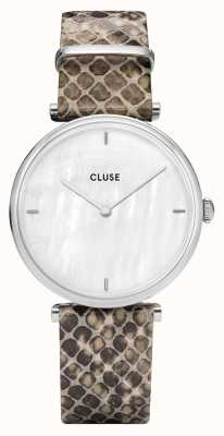 CLUSE | Triomphe | Mother Of Pearl Dial | Grey Python Leather | CL61009