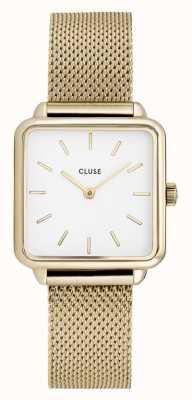 CLUSE | La Tétragone | Gold Mesh Strap | White Dial | CW0101207002