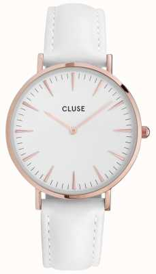 CLUSE | La Bohème | White Leather | Rose Gold Case | White Dial | CL18042