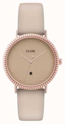 CLUSE | Le Couronnement | Beige Leather Strap | Rose Gold Dial | CL63006