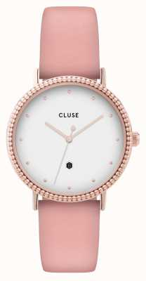 CLUSE | Le Couronnement | Pink Leather Strap | White Dial | CL63002