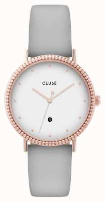 CLUSE | Le Couronnement | Grey Leather Strap | White Dial | CL63001