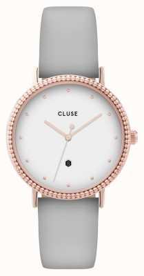 CLUSE | Le Couronnement | Grey Leather Strap | White Dial | CL63001