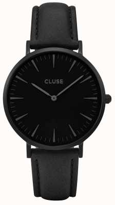 CLUSE | La Bohème | Black Leather Strap | Black Dial | CW0101201018