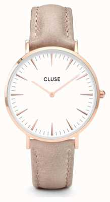 CLUSE | La Bohème | Hazelnut Leather Strap | White Dial | CW0101201015