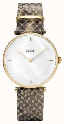 CLUSE | Triomphe | Mother Of Pearl Dial | Python Leather Strap | CL61008