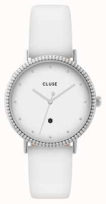 CLUSE | Le Couronnement | White Leather Strap | White Dial | CL63003