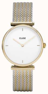 CLUSE | Triomphe | Two-Tone Mesh Bracelet | White Dial | CL61002