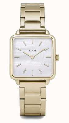 CLUSE | La Tétragone | Gold Three Link Bracelet | Mother Of Pearl CL60026S
