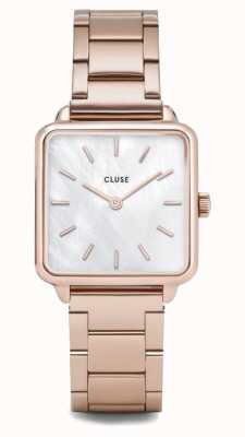 CLUSE | La Tétragone | Three Link Rose Gold Bracelet | Pearl Dial CL60027S
