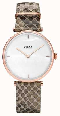 CLUSE | Triomphe | Python Leather Strap | Mother Of Pearl Dial CL61007
