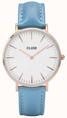 CLUSE | La Bohème | Blue Leather Strap | White Dial | CL18033