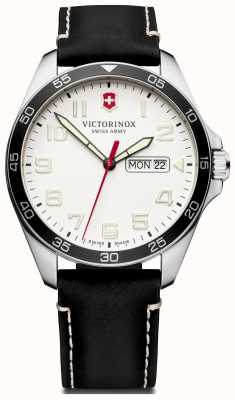 Victorinox Swiss Army | Mens Fieldforce | Black Leather Strap | White Dial | 241847