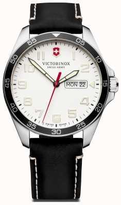Victorinox Swiss Army | Mens Fieldforce | Black Leather Strap | White Dial | 241847
